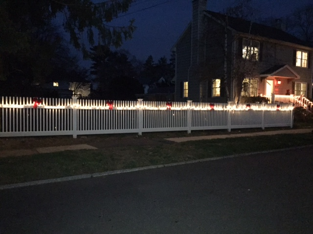 Custom Wood Fencing with lights - Rye